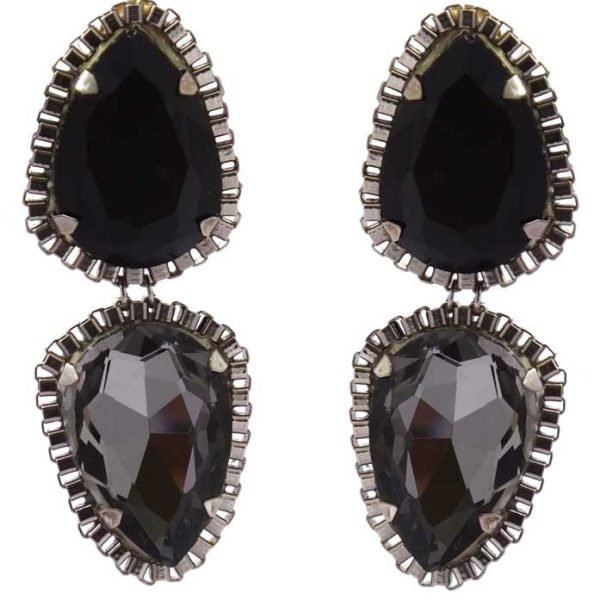 Crystal Blackberry earrings (RJE107)-0