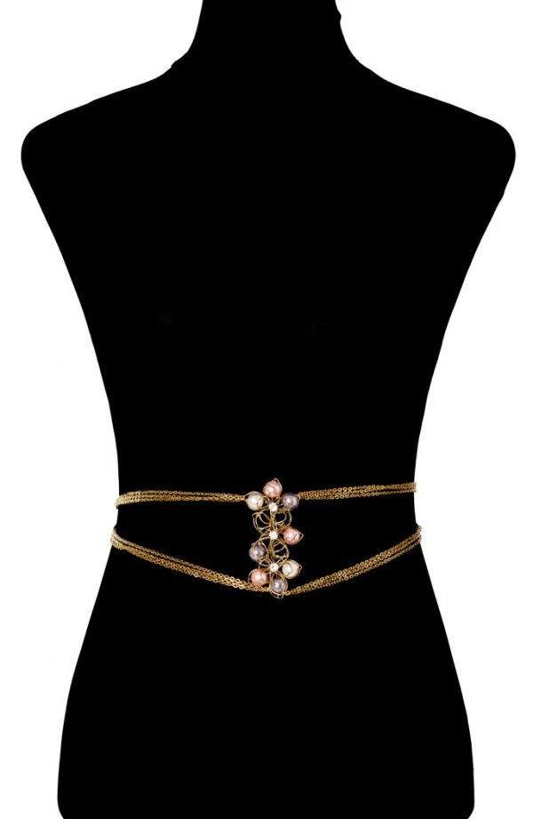 Pearly Floral Bodychain (RJMBJ70)-141