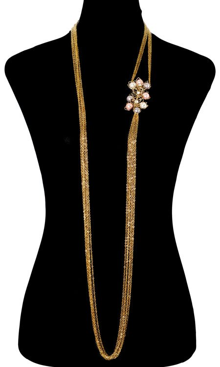 Pearly Floral Bodychain (RJMBJ70)-147