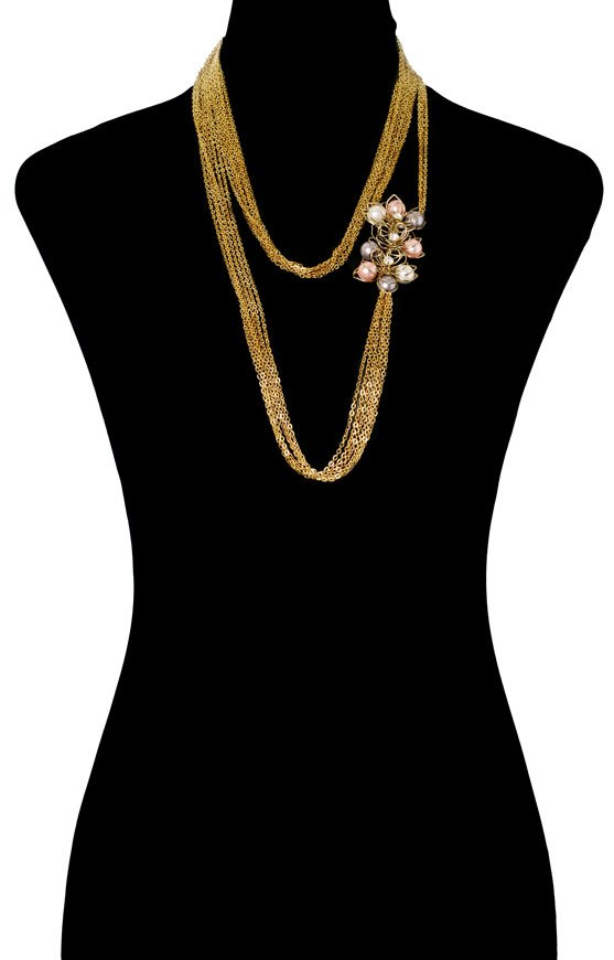 Pearly Floral Bodychain (RJMBJ70)-144