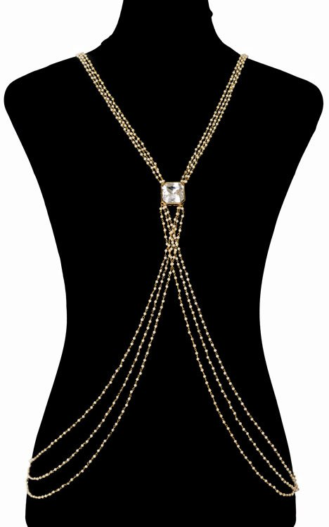 Pearls Beaded Bodychain (RJMBJ71)-0