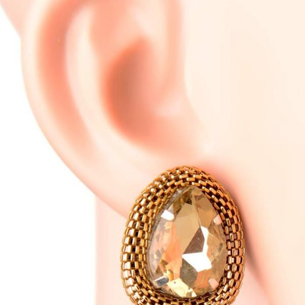 """Golden Mesh Earrings"" (RJE402)-0"