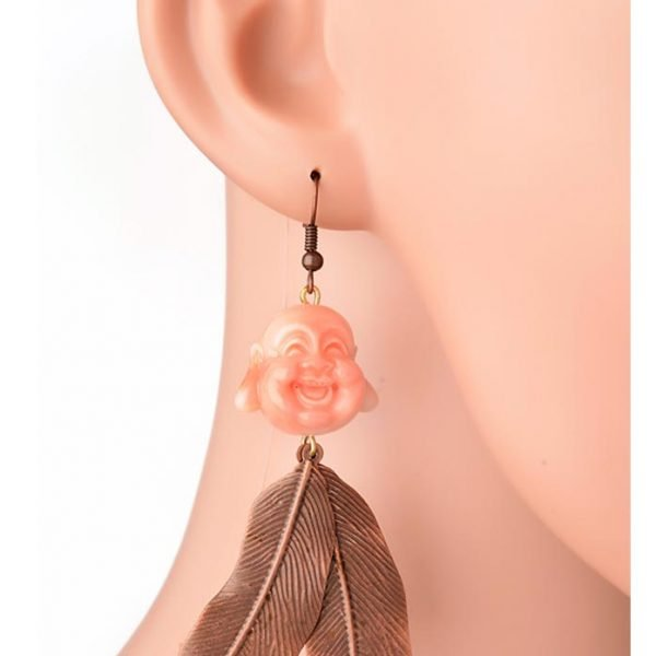 Laughing Buddha Earrings (RJE523)-0