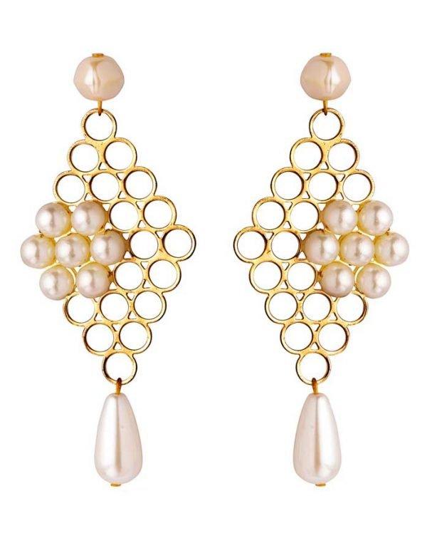Pearly Net Earring (RJE527)-1801