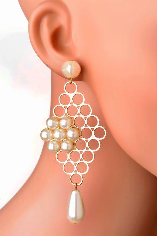 Pearly Net Earring (RJE527)-0