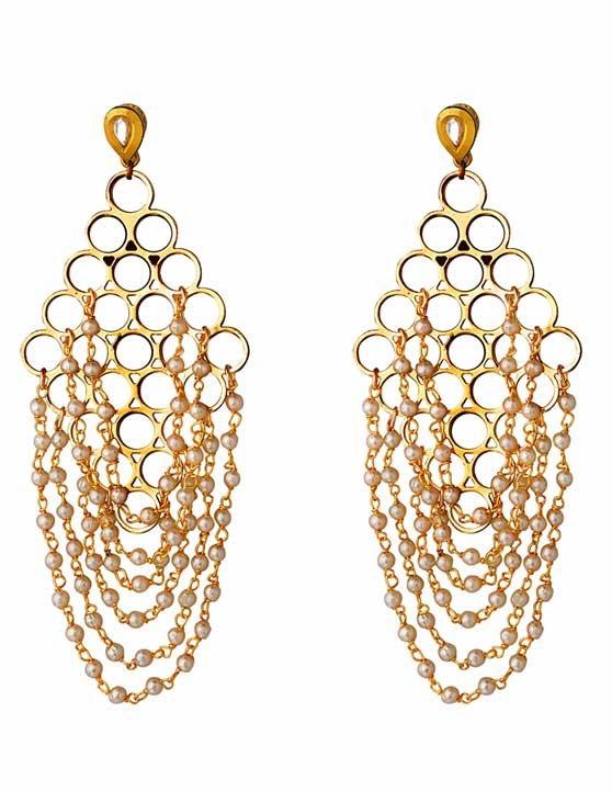 Draped Pearls Earring (RJE528)-1803