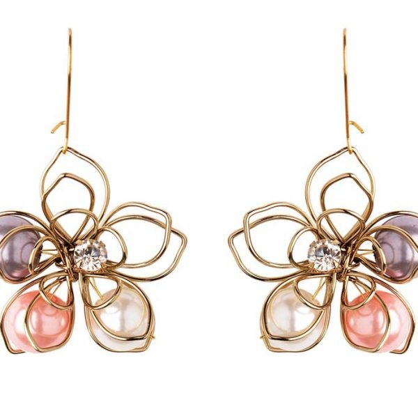 Colourful Floral Earring (RJE530)-1813