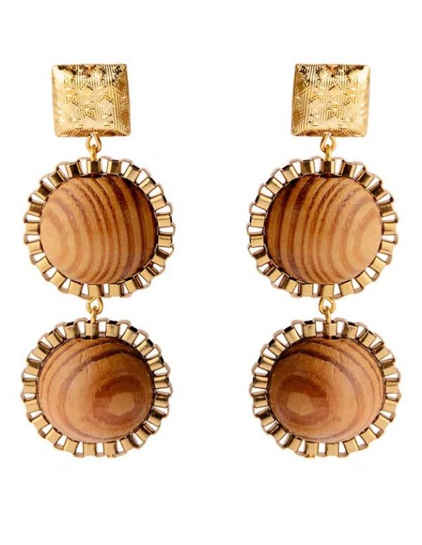 Wooden Wonder Earring (RJE534)-1837