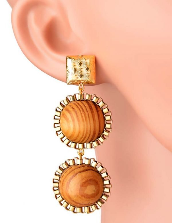 Wooden Wonder Earring (RJE534)-0