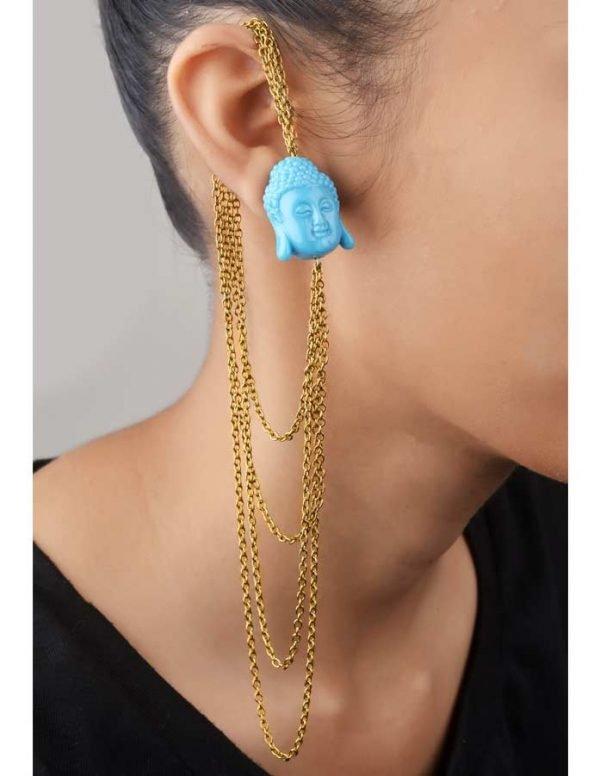 Blue Buddha Earcuff (RJEC227)-0