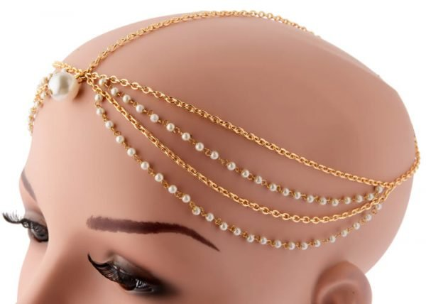 Pearls Beaded Headband (RJMM85)-2015
