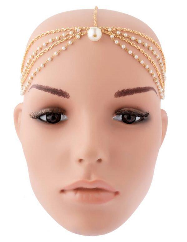 Pearls Beaded Headband (RJMM85)-2013