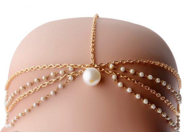Pearls Beaded Headband (RJMM85)-2012