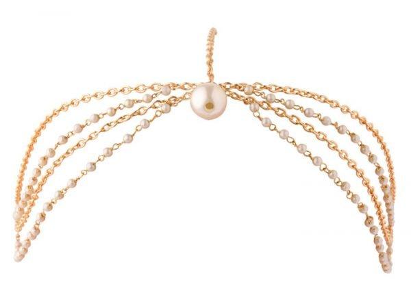 Pearls Beaded Headband (RJMM85)-2014