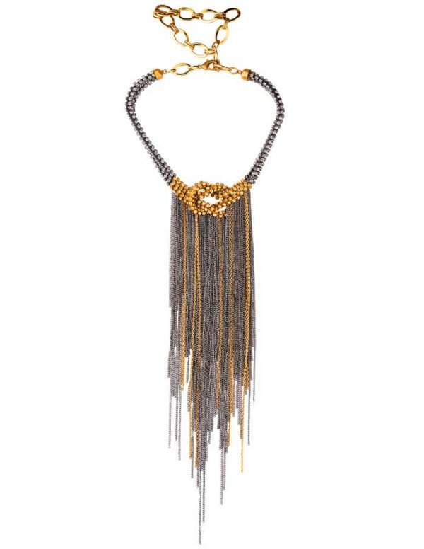 Glamorous Knotted Necklace - (RJN762)-1465