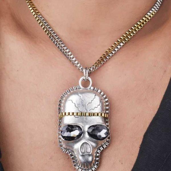 Skull Inspired Necklace (RJMN14)-0