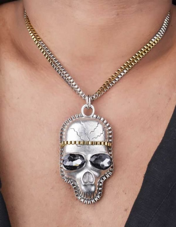 Skull Inspired Necklace (RJMN14)-0